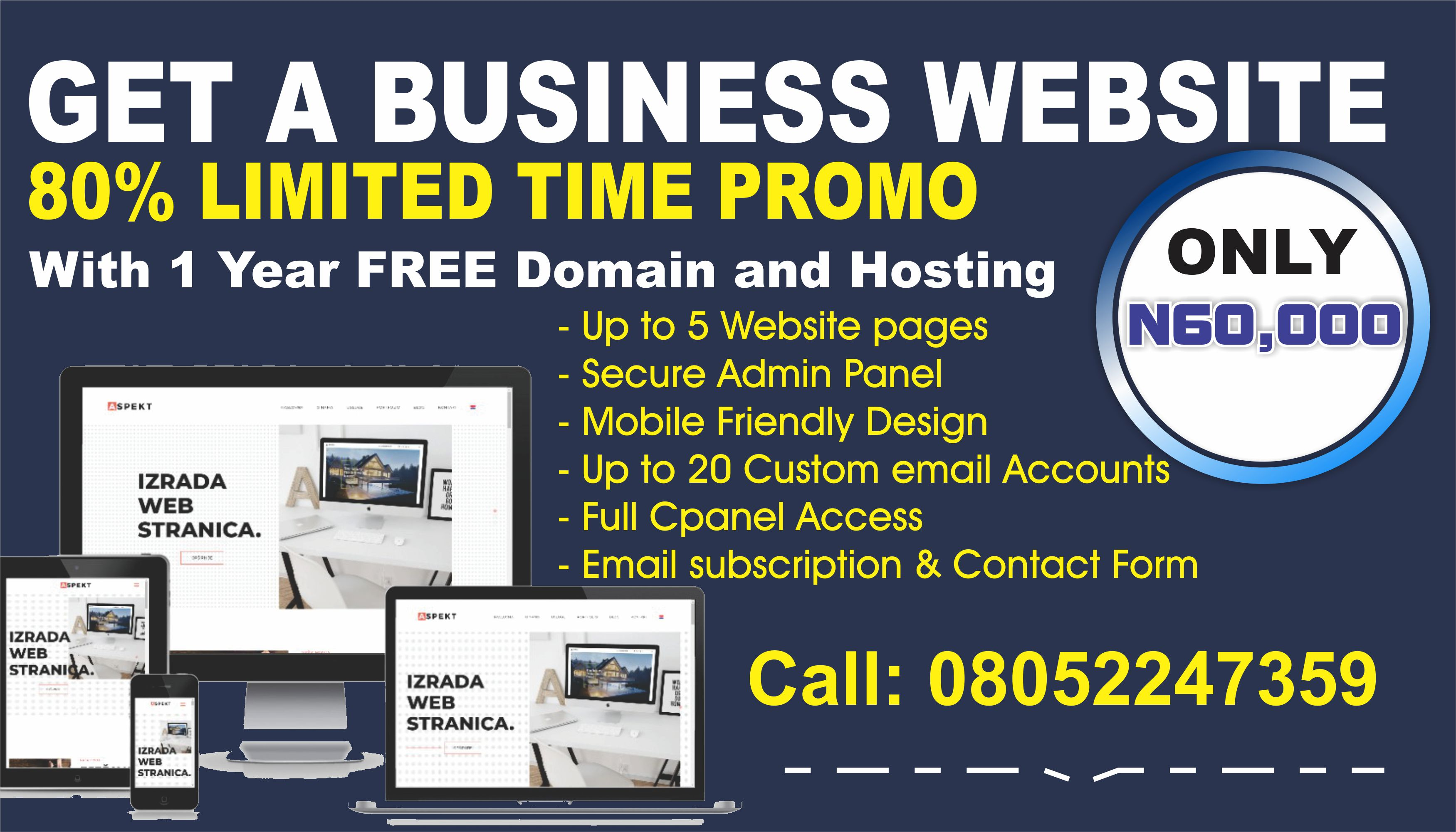 Build Your Business Website at 80% discount